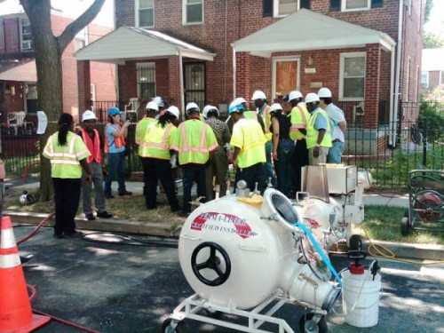Rehabilitating their sewer system using cured-in-place-pipe technology